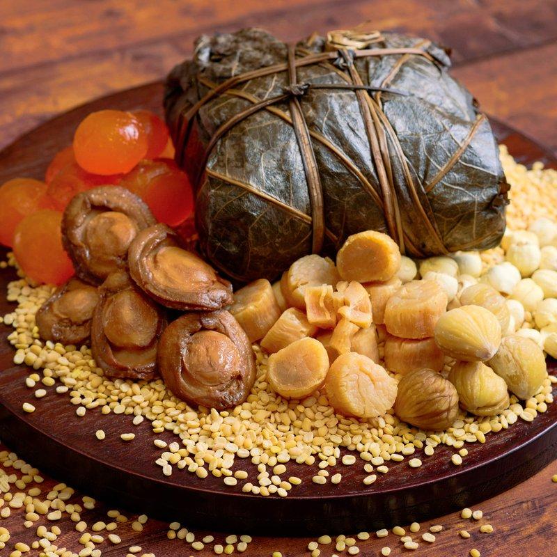 Traditional Hong Kong-Style Abalone Treasure Glutinous Rice Dumpling