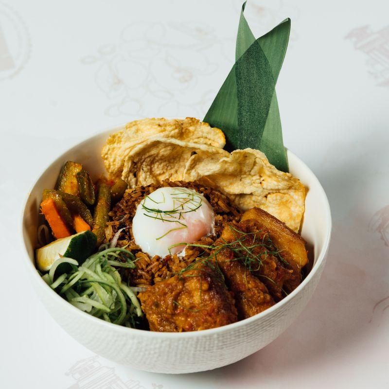 Peranakan Satay Babi Buah Keluak Fried Rice