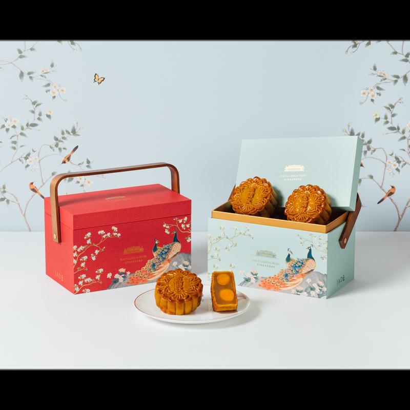 White Lotus Seed Paste with Double Yolks Baked Mooncakes in Premium Box 双黄白莲蓉