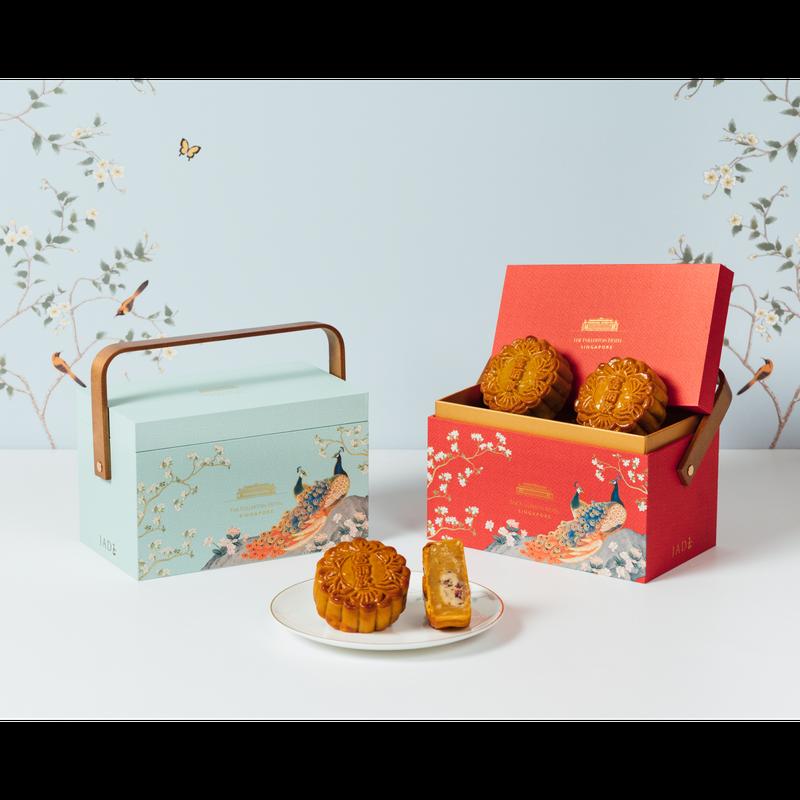 Rose Coconut Baked Mooncakes in Premium Box 玫瑰香椰