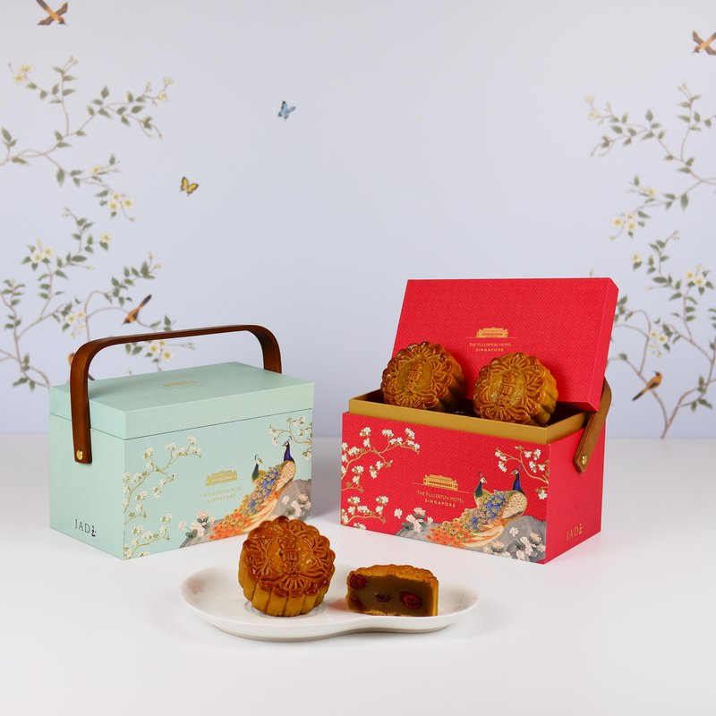 Oolong Tea with Dried Cranberries Baked Mooncakes in Premium Box 蔓越莓乌龙茶