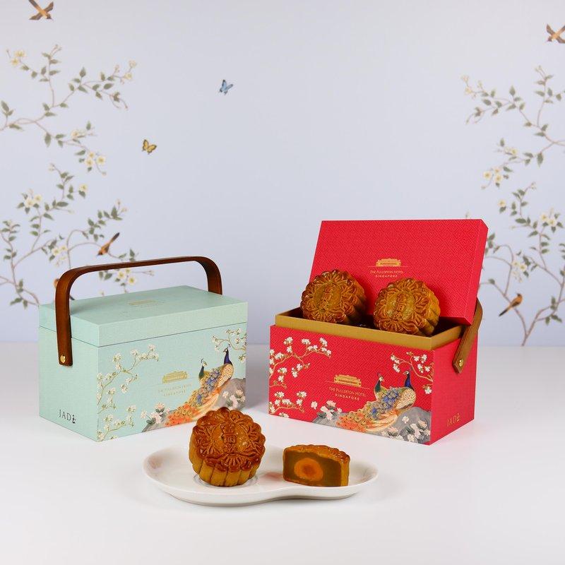 White Lotus Seed Paste with Single Yolk Baked Mooncakes in Premium Box 单黄白莲蓉