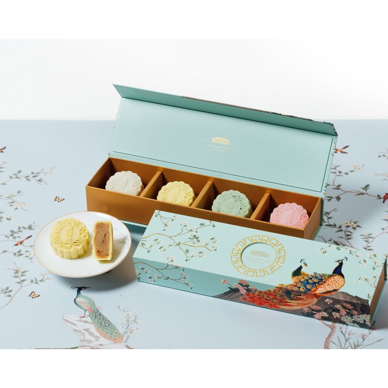 Osmanthus with Wolfberry Snow Skin Mooncakes in Classic Box 冰皮桂花枸杞