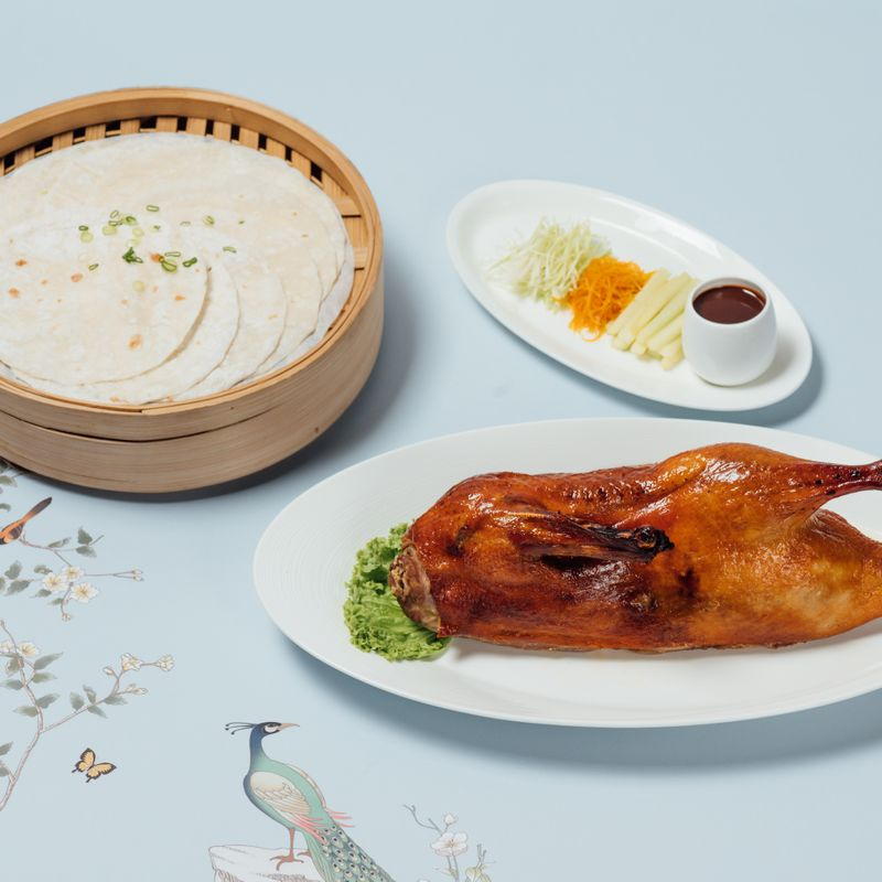 Roasted Peking Duck with Condiments