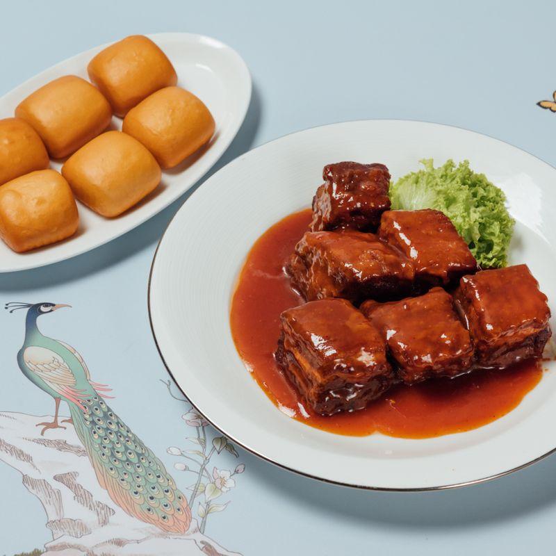 Stewed Pork Rib in Beijing Style with Deep-fried Mantou