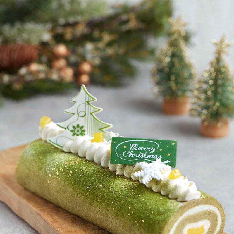 Japanese Marukyu Matcha Yuzu Log Cake